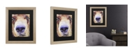 "Trademark Global Pat Saunders-White The Sniffer Matted Framed Art - 37"" x 49"""