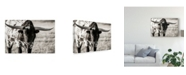 "Trademark Global Tyler Stockton Longhorn Portrait Centered Canvas Art - 15"" x 20"""