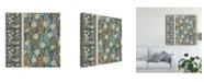 """Trademark Global Vision Studio Nouveau Textile Motif IV Canvas Art - 20"""" x 25"""""""