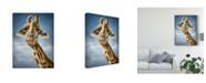 "Trademark Global Patrick Lamontagne Giraffe Totem Canvas Art - 15"" x 20"""