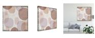"Trademark Global Michael Mullan Blush Drips I Canvas Art - 20"" x 25"""