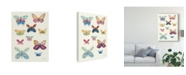 """Trademark Global Courtney Prahl Butterfly Charts I Canvas Art - 20"""" x 25"""""""