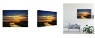 "Trademark Global Pixie Pics River Sunset Canvas Art - 15"" x 20"""