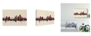 "Trademark Global Michael Tompsett Rochester New York Skyline III Canvas Art - 37"" x 49"""