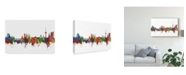 "Trademark Global Michael Tompsett Koblenz Germany Skyline II Canvas Art - 20"" x 25"""