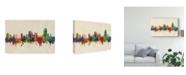 "Trademark Global Michael Tompsett Swansea Wales Skyline Canvas Art - 20"" x 25"""