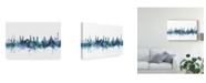 "Trademark Global Michael Tompsett Helsinki Finland Skyline Blue Canvas Art - 15"" x 20"""