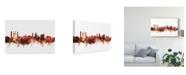 "Trademark Global Michael Tompsett St Andrews Scotland Skyline Red Canvas Art - 20"" x 25"""