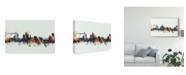"Trademark Global Michael Tompsett Newport Wales Skyline IV Canvas Art - 20"" x 25"""