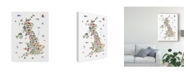 """Trademark Global Michael Tompsett Animal Map of Great Britain & Ni For Children and Kids Canvas Art - 15"""" x 20"""""""