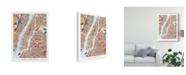 "Trademark Global Michael Tompsett New York City Street Map II Canvas Art - 20"" x 25"""
