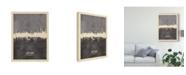 """Trademark Global Michael Tompsett Stuttgart Germany Skyline Gray Canvas Art - 20"""" x 25"""""""