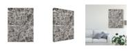 "Trademark Global Michael Tompsett Munich Germany City Map Black Canvas Art - 15"" x 20"""