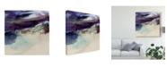 "Trademark Global Sisa Jasper Purple Wunderlust II Canvas Art - 15"" x 20"""