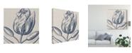 "Trademark Global Vision Studio Indigo Floral on Linen IV Canvas Art - 20"" x 25"""