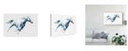 """Trademark Global Julie T. Chapman Sapphire Gallop I Canvas Art - 37"""" x 49"""""""
