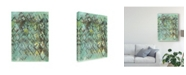 "Trademark Global Joyce Combs Lattice in Green I Canvas Art - 37"" x 49"""