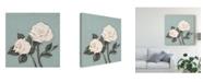 "Trademark Global Jade Reynolds Two Tan Roses Canvas Art - 15"" x 20"""