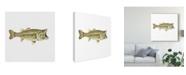 "Trademark Global Rick Novak Illustrated Bass Canvas Art - 15"" x 20"""