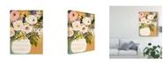 "Trademark Global Karen Fields Summer Flowers in a Vase II Canvas Art - 15"" x 20"""
