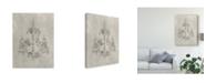 "Trademark Global Ethan Harper Chandelier Schematic II Canvas Art - 20"" x 25"""