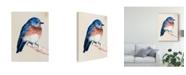 """Trademark Global Jennifer Paxton Parker Little Bird on Branch I Canvas Art - 15"""" x 20"""""""