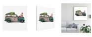 "Trademark Global Jennifer Paxton Parker Christmas Cars IV Canvas Art - 20"" x 25"""