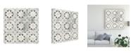 "Trademark Global June Erica Vess Marble Tile Design II Canvas Art - 20"" x 25"""