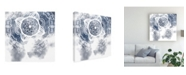 "Trademark Global Melissa Wang Midnight Blue Breath I Canvas Art - 20"" x 25"""