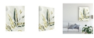 "Trademark Global June Erica Vess Batik Leaves IV Canvas Art - 20"" x 25"""