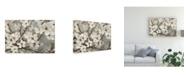 "Trademark Global James Wiens Cherry Blossoms I Blue Canvas Art - 20"" x 25"""