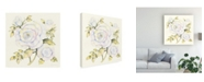 "Trademark Global Kathleen Parr Mckenna Roses in White Canvas Art - 20"" x 25"""