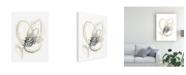 "Trademark Global June Erica Vess Monochrome Floral Study V Canvas Art - 37"" x 49"""