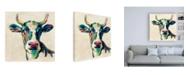 "Trademark Global Silvia Vassileva Expressionistic Cow II Canvas Art - 15.5"" x 21"""