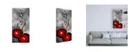 """Trademark Global Roderick Stevens Cherry Splash over Marble Canvas Art - 36.5"""" x 48"""""""