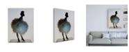 "Trademark Global Incado Bluemingo Canvas Art - 15.5"" x 21"""