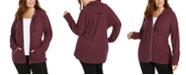 Calvin Klein Plus Size Zip-Up Hoodie