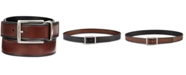 Perry Ellis Men's Beveled-Edge Reversible Leather Belt