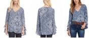 Karen Kane Printed Ruffled-Sleeve Top