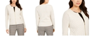 Charter Club Petite Zip-Front Quilted Sweater, Created for Macy's