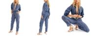 Free People Ari Striped Cotton Jumpsuit