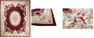 KM Home CLOSEOUT!  Palace Garden Aubusson Burgundy 5' x 8' Area Rug