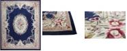 "KM Home CLOSEOUT!  Palace Garden Aubusson Dark Blue 3'6"" x 5'6"" Area Rug"