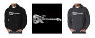 LA Pop Art Men's Word Art Hooded Sweatshirt - Rock Guitar