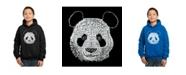 LA Pop Art Boy's Word Art Hoodies - Panda
