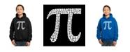 LA Pop Art Boy's Word Art Hoodies - The First 100 Digits of Pi