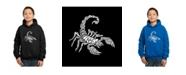 LA Pop Art Boy's Word Art Hoodies - Types of Scorpions