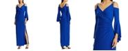 Lauren Ralph Lauren Cold-Shoulder Evening Gown