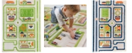 """IVI Traffic 3D Childrens Play Mat & Rug in A Colorful Town Design with Soccer Field, Car Park&Roads - 72""""L x 53""""W"""