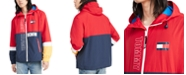 Tommy Hilfiger Men's Lewis Colorblocked Logo-Print Hooded Raincoat
